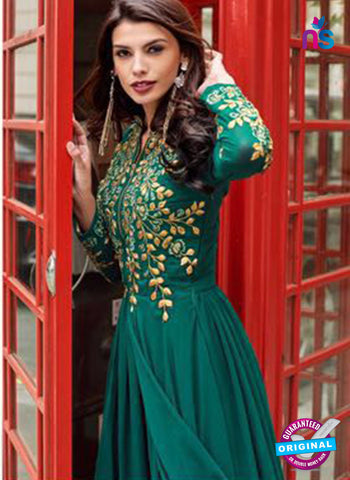Aashirwad 80005 Sea Green Designer Gown
