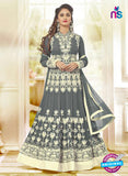 AZ 3656 Grey Georgette Anarkali Suit