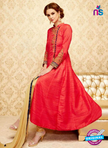 SC 42319 Red Anarkali Suit