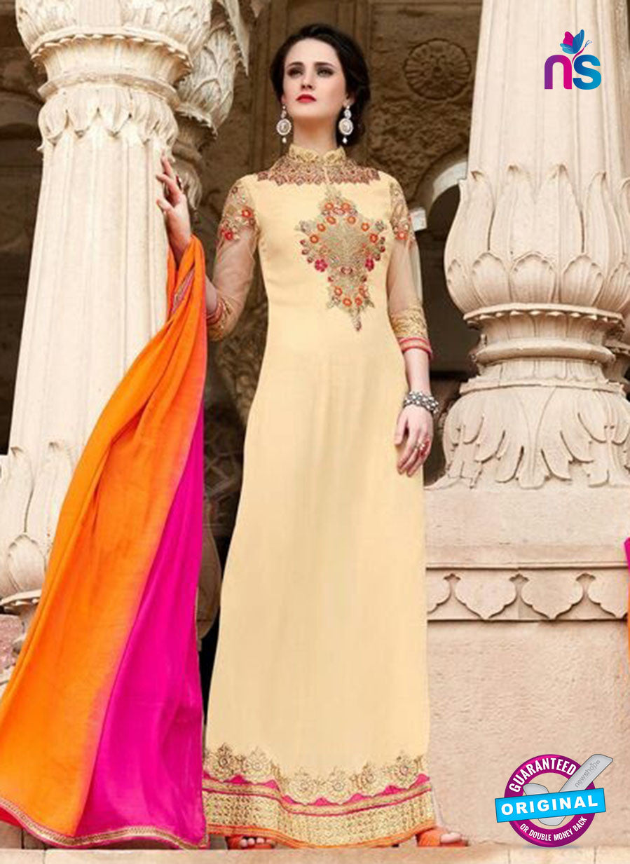 SC 14052 Peach Georgette Exclusive Function Wear Designer Suit