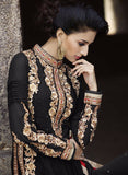 NS10975  Black Color Georgette Designer Suit