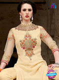 SC 14052 Peach Georgette Exclusive Function Wear Designer Suit Online