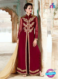 SC 14049 Maroon Georgette Exclusive Function Wear Designer Suit