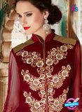 SC 14049 Maroon Georgette Exclusive Function Wear Designer Suit Online