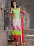 NS10003  Red & Green Color Georgette Designer Suit