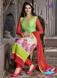 SC 12304 Multicolor and Green Georgette Party Wear Straight Suit Online