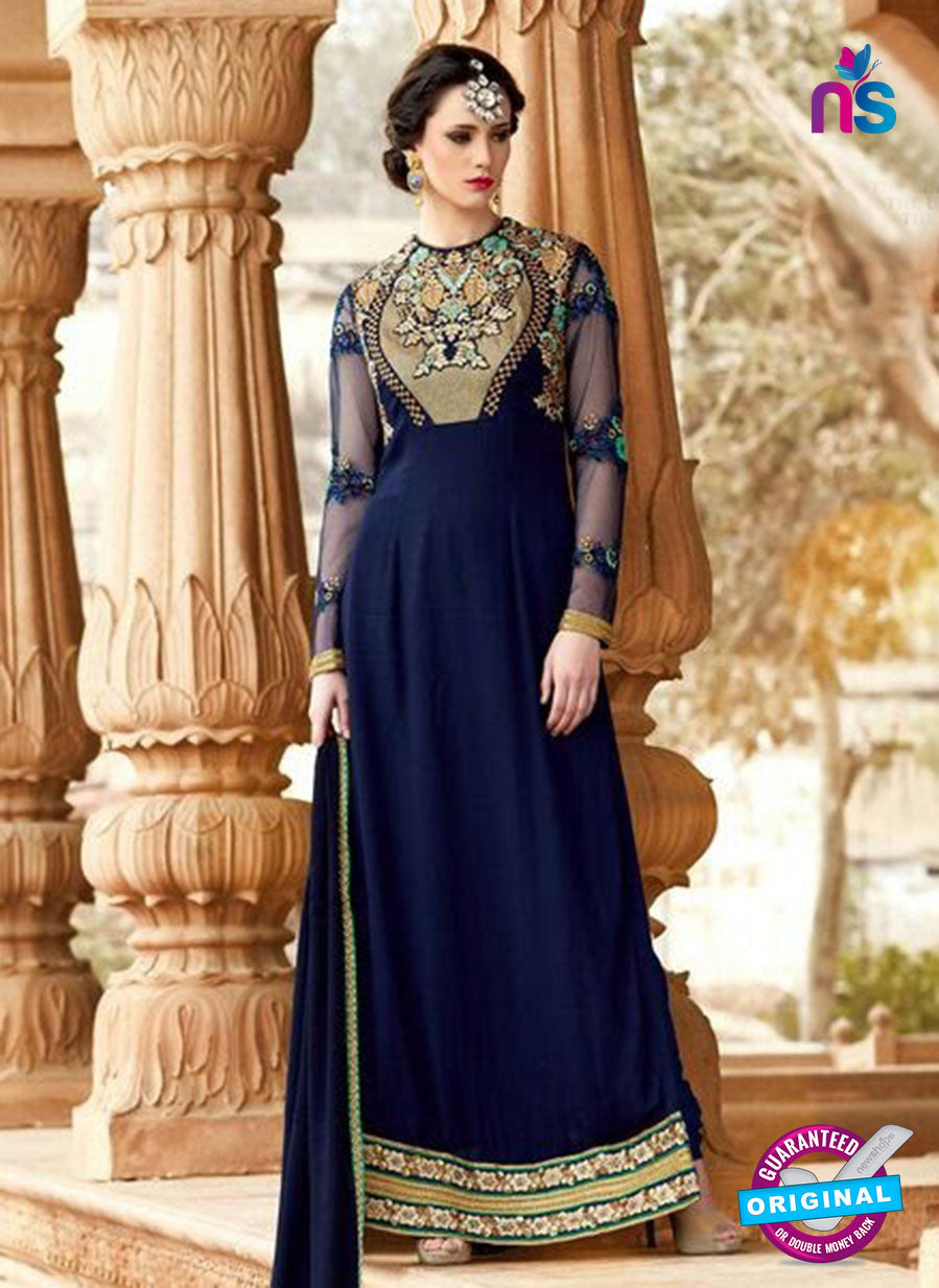 SC 14050 Blue Georgette Exclusive Function Wear Designer Suit