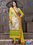 SC 12306 Multicolor and Yellow Georgette Party Wear Straight Suit