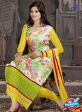 SC 12306 Multicolor and Yellow Georgette Party Wear Straight Suit Online
