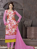 NS10005  Pink Color Georgette Designer Suit