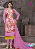 SC 12303 Pink and Multicolor Georgette Party Wear Straight Suit