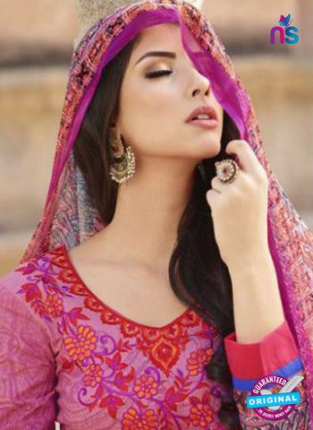 AZ 1083 Pink Lawn Cotton Pakistani Suit Online