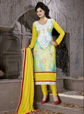NS10006  Yellow Color Georgette Designer Suit
