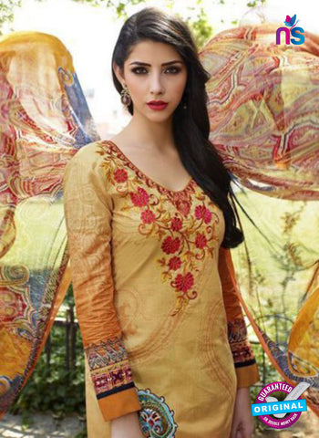 AZ 1084 Yellow Lawn Cotton Pakistani Suit Online