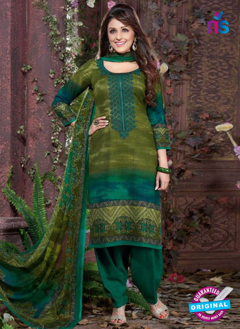 Rakhi 8009 B Green Mattee Pashmina Winter Suit