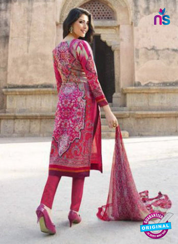 AZ 1085 Pink and Multicolor Lawn Cotton Pakistani Suit