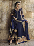 NS10977  Blue Color Georgette Designer Suit