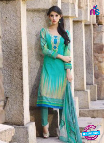 AZ 1086 Sea Green Lawn Cotton Pakistani Suit
