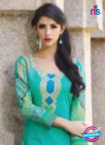 AZ 1086 Sea Green Lawn Cotton Pakistani Suit - Salwar Suits - NEW SHOP