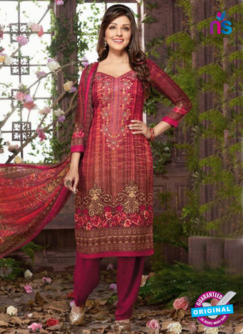 Rakhi 8011 A Red Mattee Pashmina Winter Suit