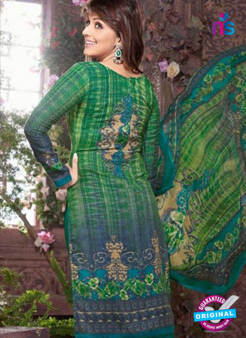 Rakhi 8011 B Green Mattee Pashmina Winter Suit