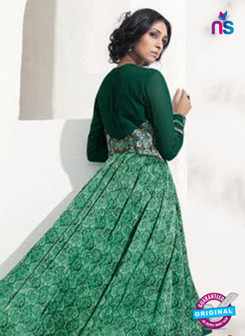 AZ 5143 Green Satin Georgette Indo Western Suit
