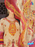 AZ 1087 Beige and Peach Lawn Cotton Pakistani Suit Online