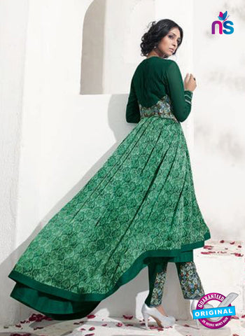 Karma 8011 Green Satin Georgette Indo Western Suit