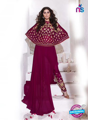 Karma 8012 Purple Georgette Indo Western Suit