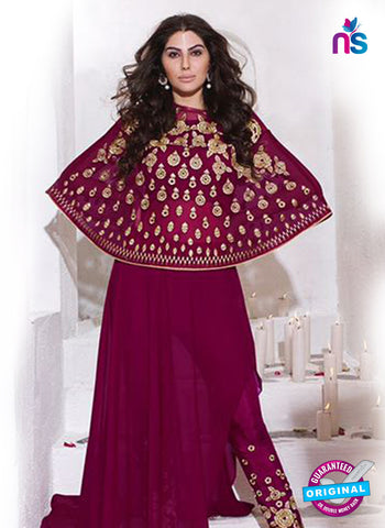 AZ 5144 Purple Georgette Indo Western Suit
