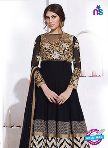 AZ 5145 Black Georgette Anarkali Suit