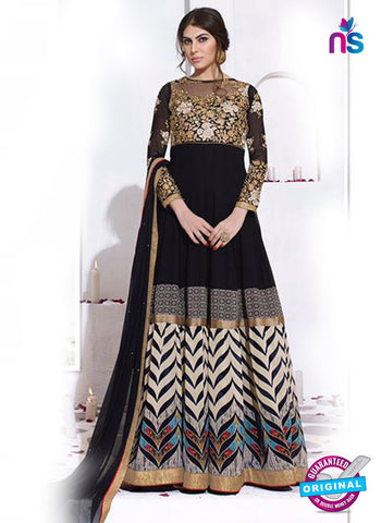 Karma 8013 Black Georgette Anarkali Suit