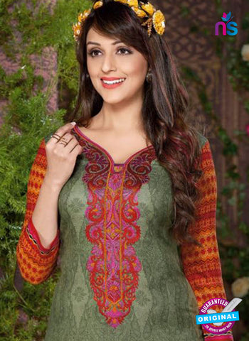 Rakhi 8014 A Green Mattee Pashmina Winter Suit