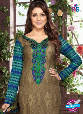 Rakhi 8014 B Brown Mattee Pashmina Winter Suit