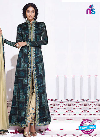 Karma 8015 Green Satin Georgette Indo Western Suit