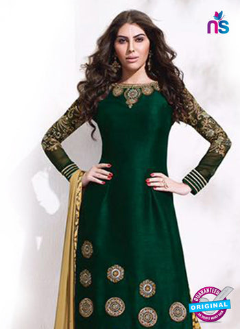 AZ 5150 Green Raw Silk Party Wear  Suit