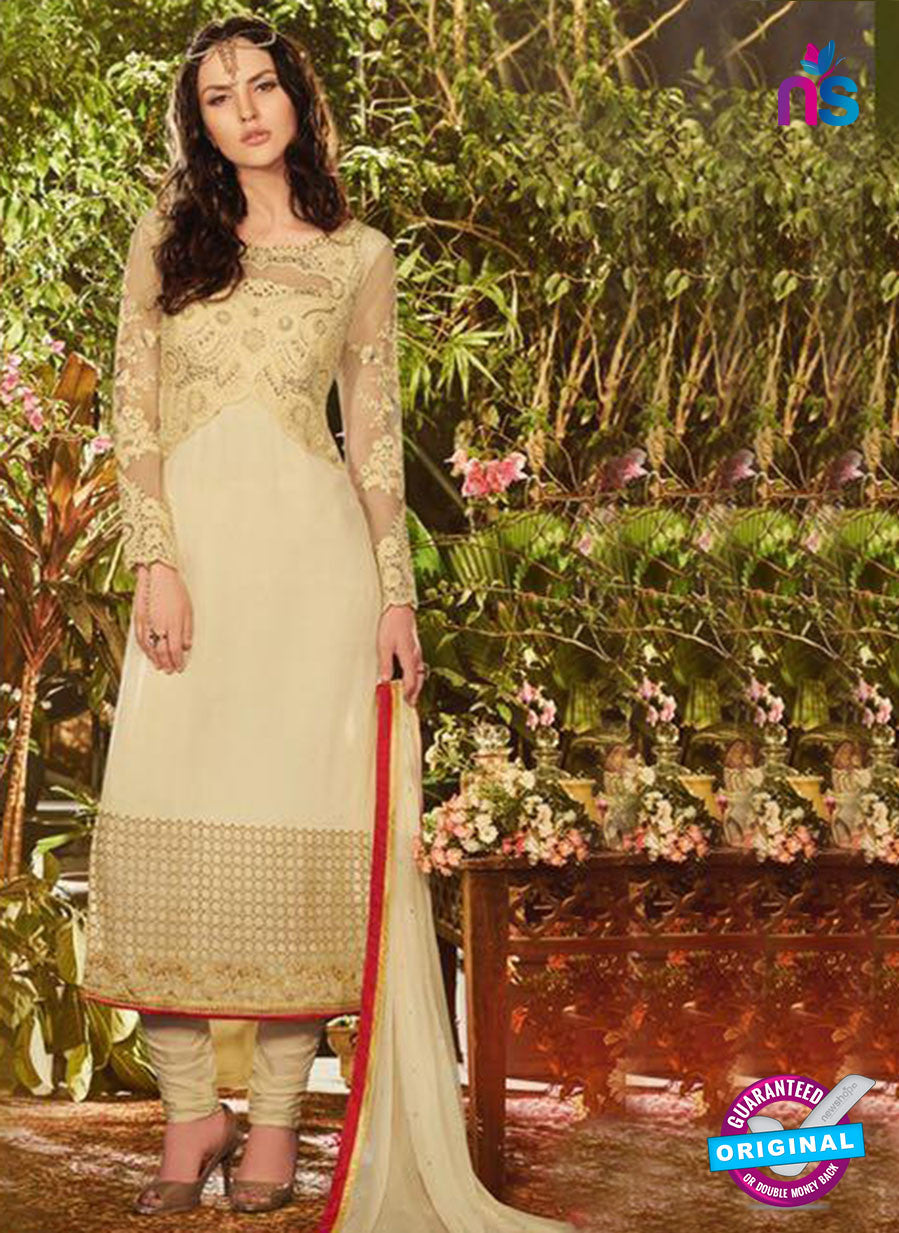 SC 13912 Beige Georgette Occasional Wear Long Designer Straight Suit