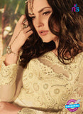 SC 13912 Beige Georgette Occasional Wear Long Designer Straight Suit Online