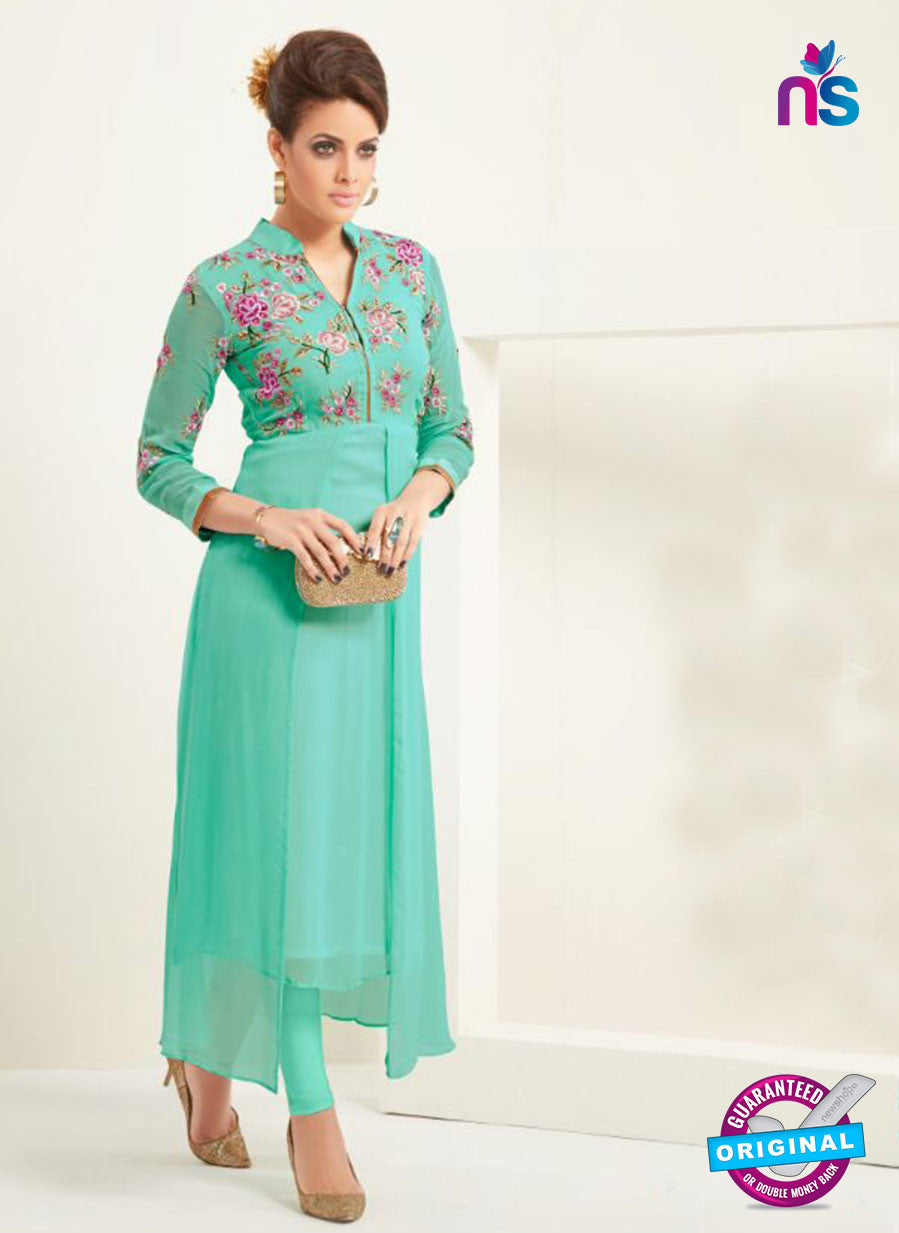 AZ 2358 Sea Green Semi Georgette Party Wear Tunic