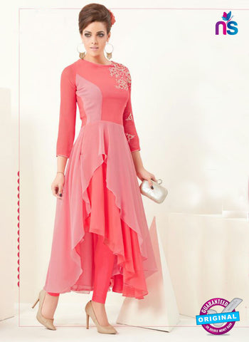 AZ 2359 Peach Semi Georgette Party Wear Tunic