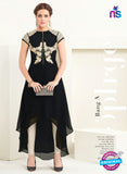 AZ 2361 Black Semi Georgette Party Wear Tunic