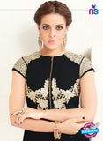 AZ 2361 Black Semi Georgette Party Wear Tunic Online