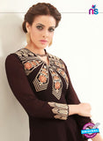 AZ 2362 Brown Semi Georgette Party Wear Tunic Online