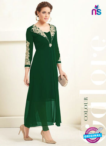 AZ 2363 Green Semi Georgette Party Wear Tunic