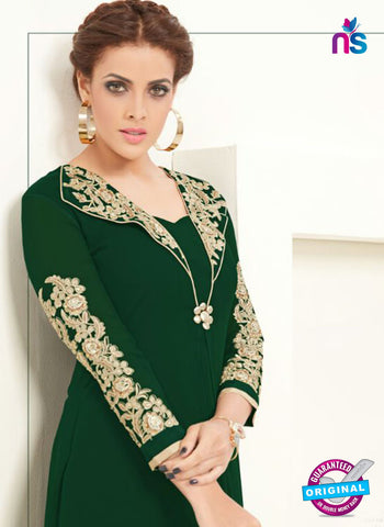 AZ 2363 Green Semi Georgette Party Wear Tunic Online