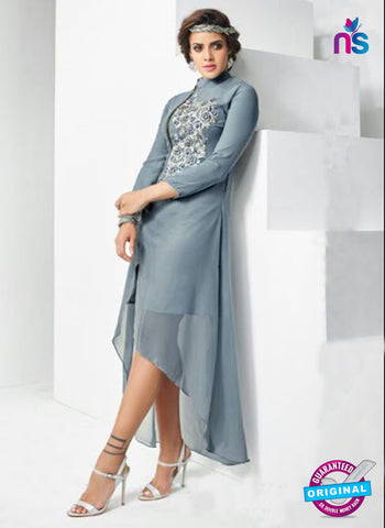 AZ 4018 Grey Georgette Designer Tunic