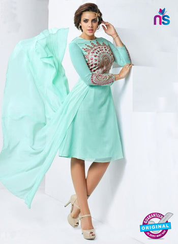 AZ 4019 Sea Green Georgette Designer Tunic