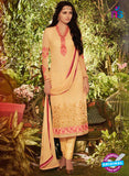 SC 13910 Yellow Georgette Occasional Wear Long Designer Straight Suit