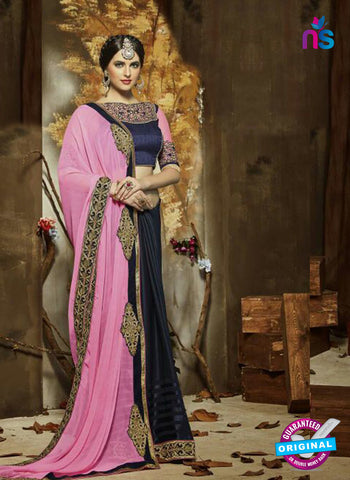SC 14272 Pink Georgette Party Wear Saree