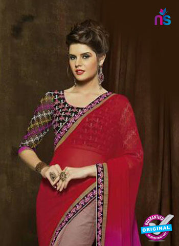 SC 14273 Brown Georgette Party Wear Saree